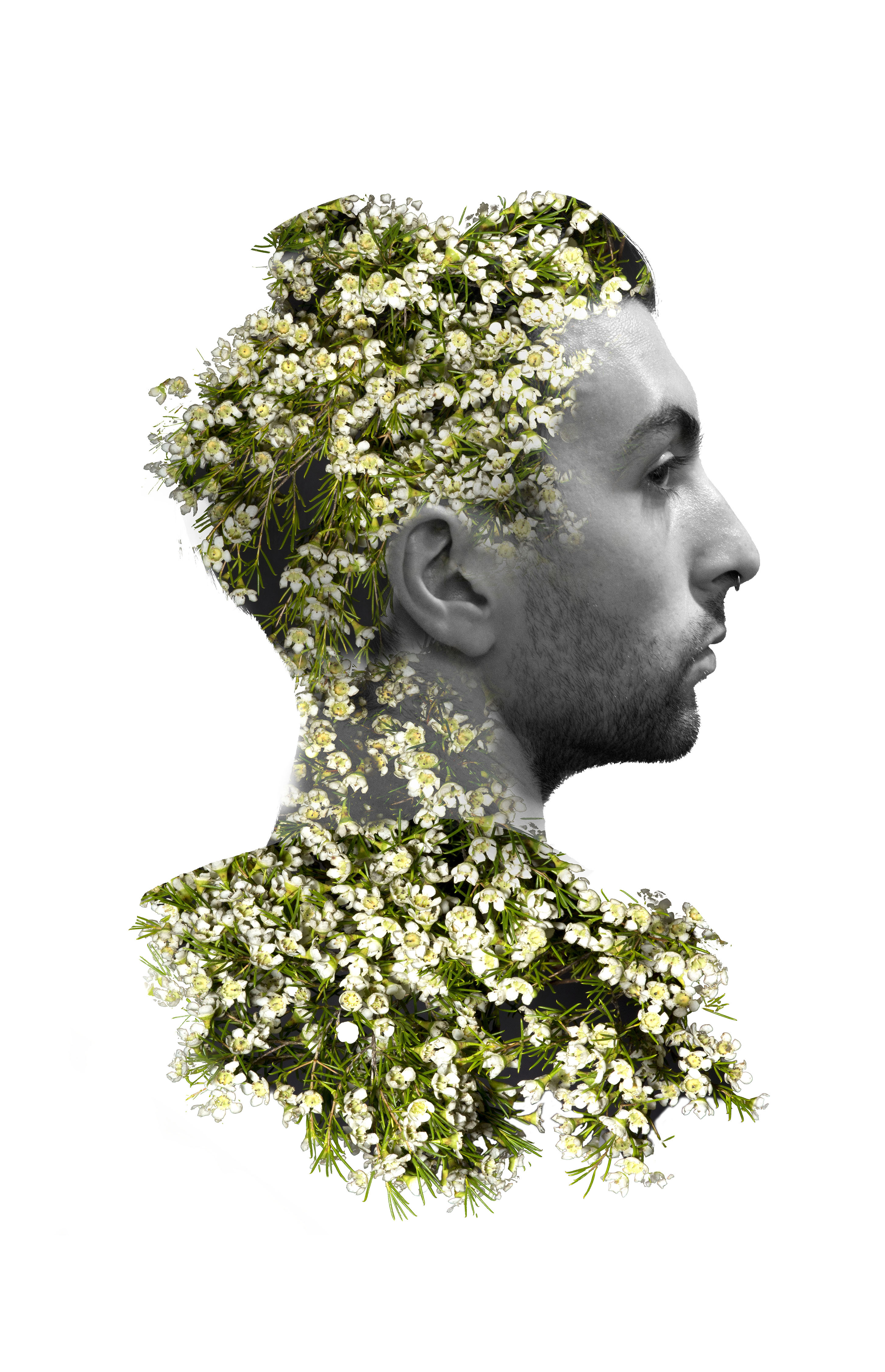 jason double exposure flowers